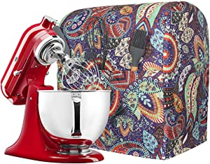 Kitchen Aid Mixer Cover with Pockets, Compatible 5-8 Quart Kitchen Aid Organizer Bag, Stand Mixer Covers Fits All Tilt Head & Bowl Lift Models TFC544