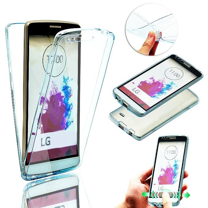 para LG K5 Funda de Silicona Delantera + Trasera Doble 100% Transparente, Vandot Ultra Slim Claro Carcasa 360 Grados Protección Smart Case Cover Dual ...