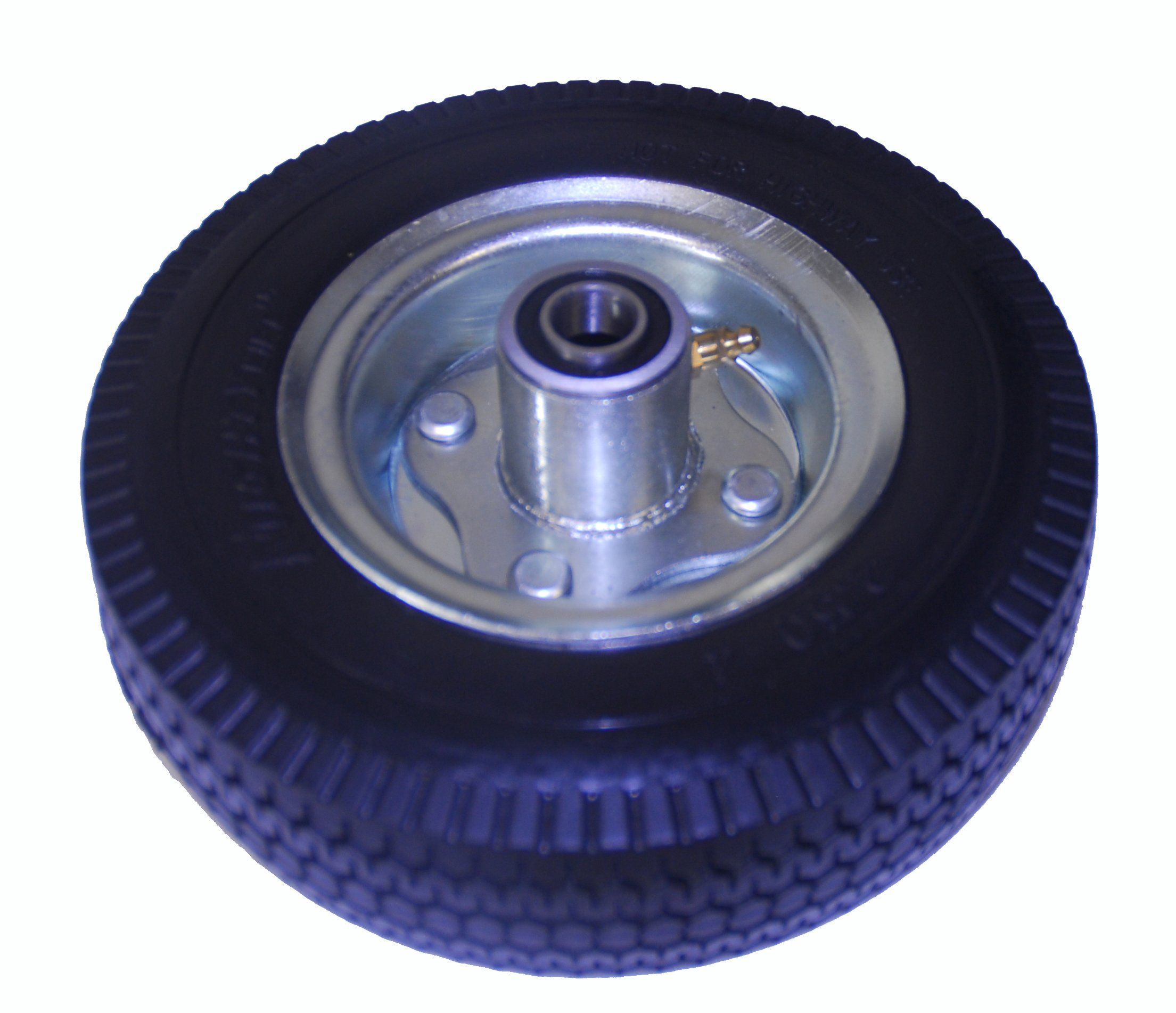 "Mighty Lift 8"" x 2.5"" Hand truck wheel, Flat Free, Tubeless, 2.80/2.50-4 Poly Tire, 2-1/4'' Offset Hub, 5/8'' Precision Bearing, 350 lbs cap"