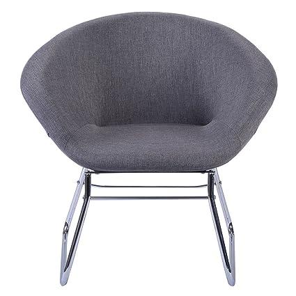 Wondrous Amazon Com Contemporary Modern Grey Accent Chair Leisure Inzonedesignstudio Interior Chair Design Inzonedesignstudiocom