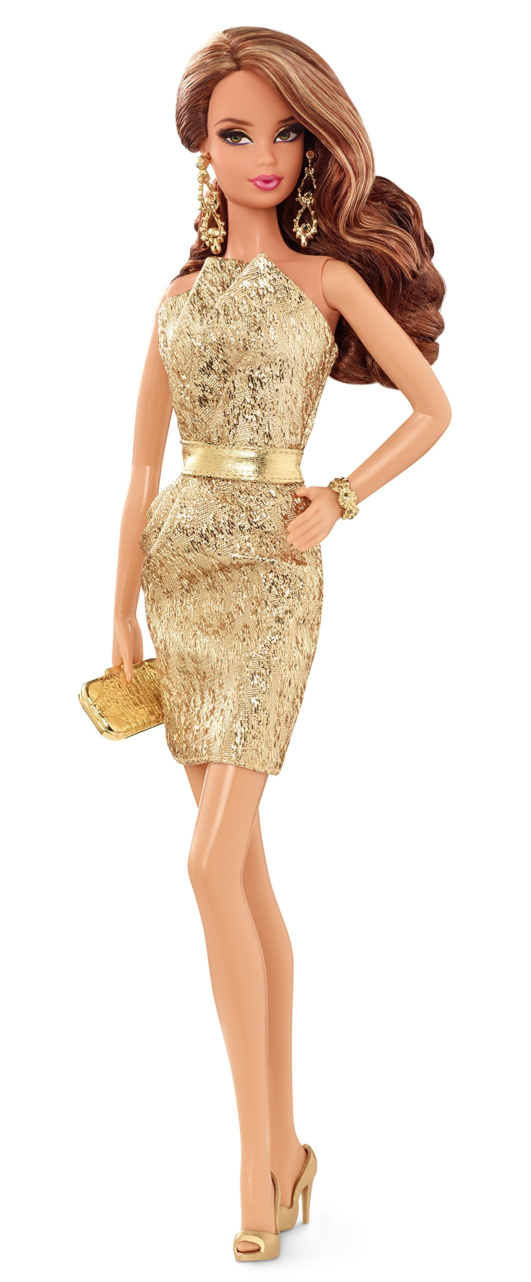 Barbie The Look: Gold Dress Doll