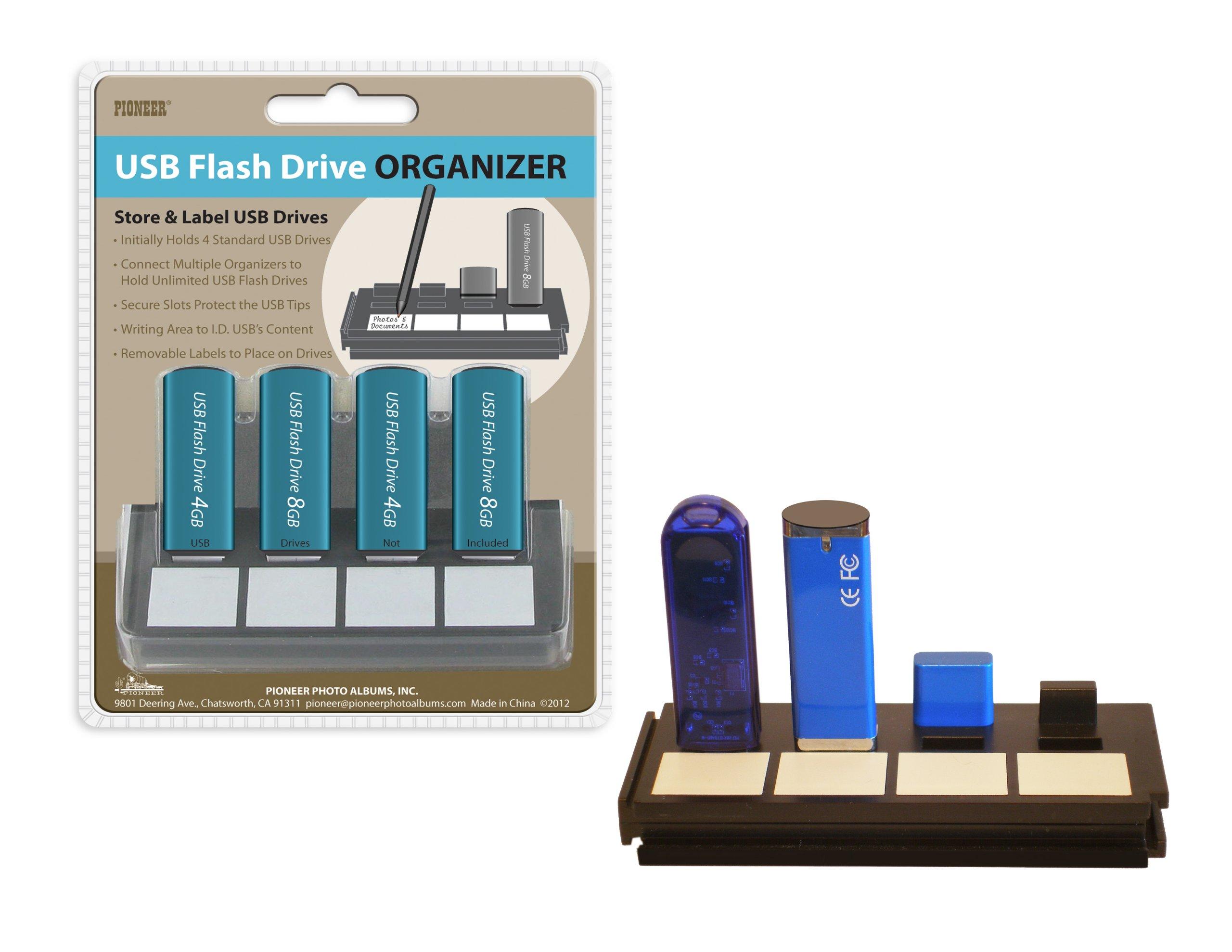 Pioneer Photo Albums 4-Hub USB Flash Drive Organizer