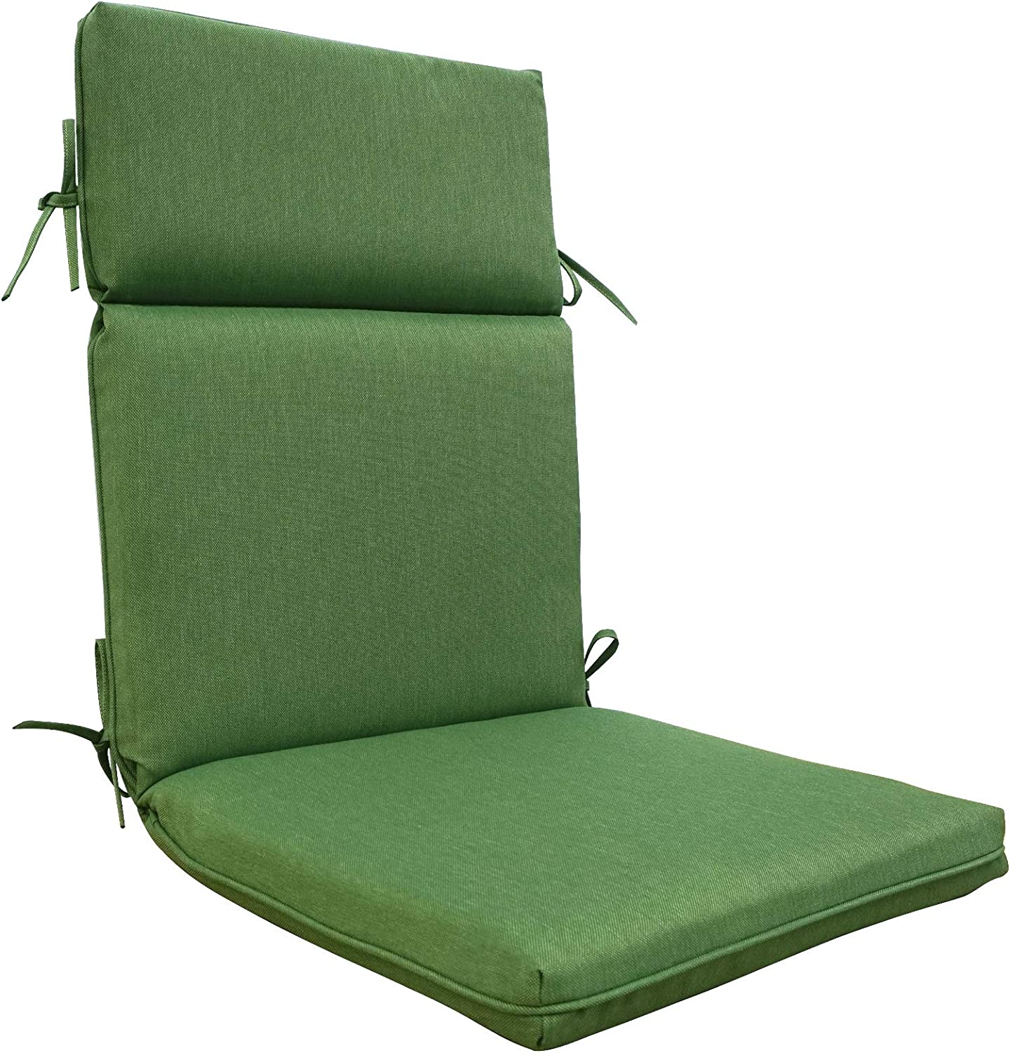BOSSIMA Outdoor Indoor High Back Chair Cushions Comfort Replacement Patio Seating Cushions Deep Green