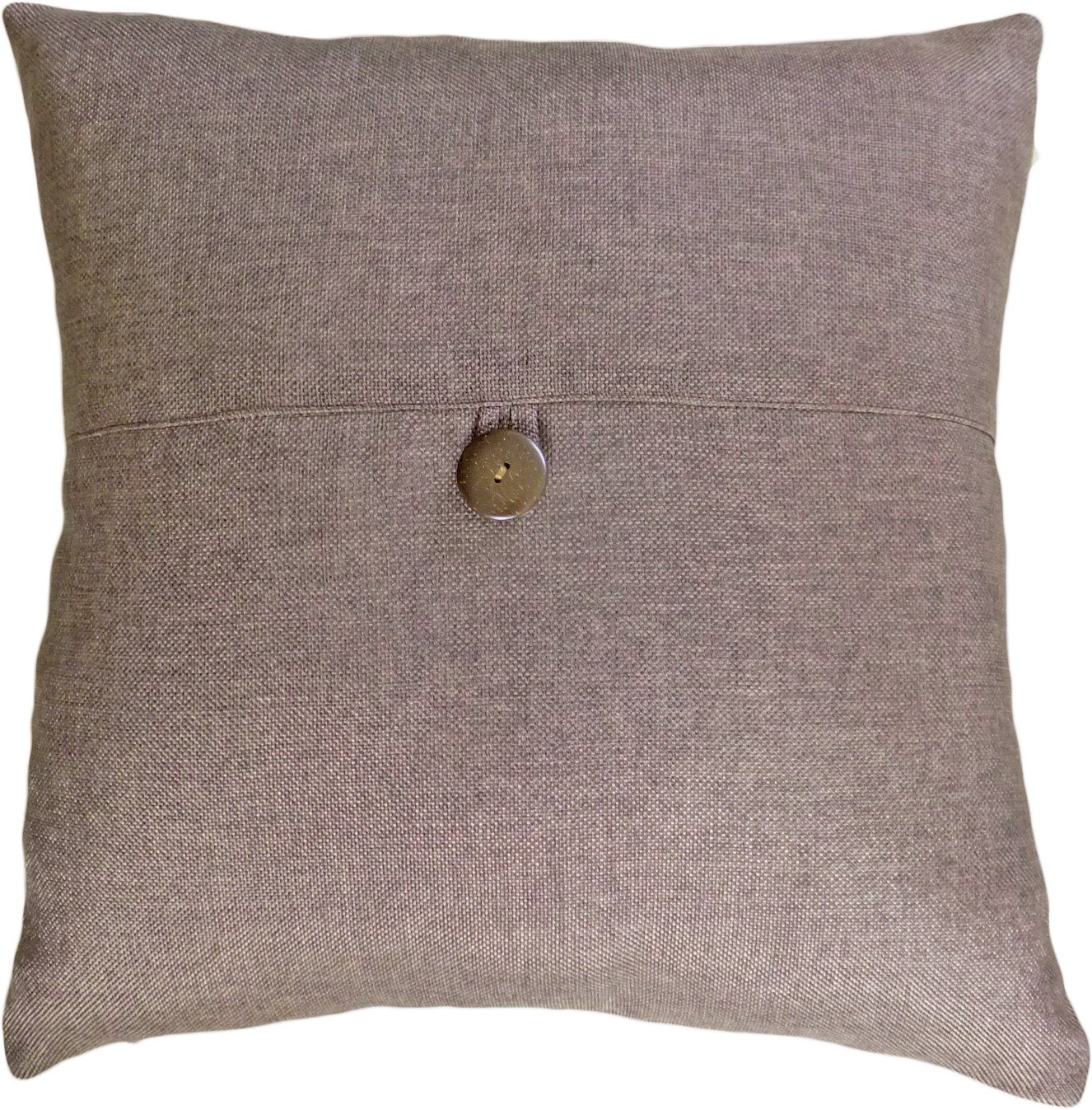 Decorative Button Brown Throw Pillow Cover 18' 5927315