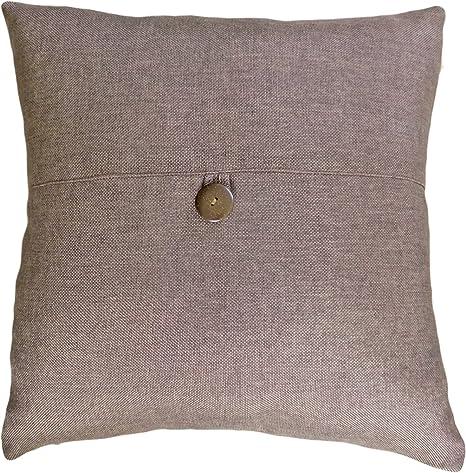 Amazon.com: Botón decorativo Brown Throw almohada 18