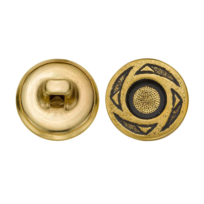 Antique Gold Size 24 Ligne 72-Pack C/&C Metal Products Corp C/&C Metal Products 5258 Crest Metal Button