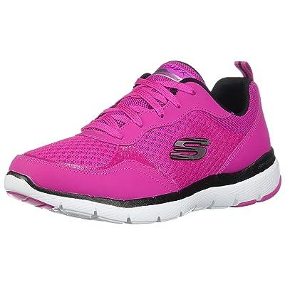 Skechers Women's Flex Appeal 3.0 - Go Forward, Training, Hot Pink, Black, US M   Fashion Sneakers