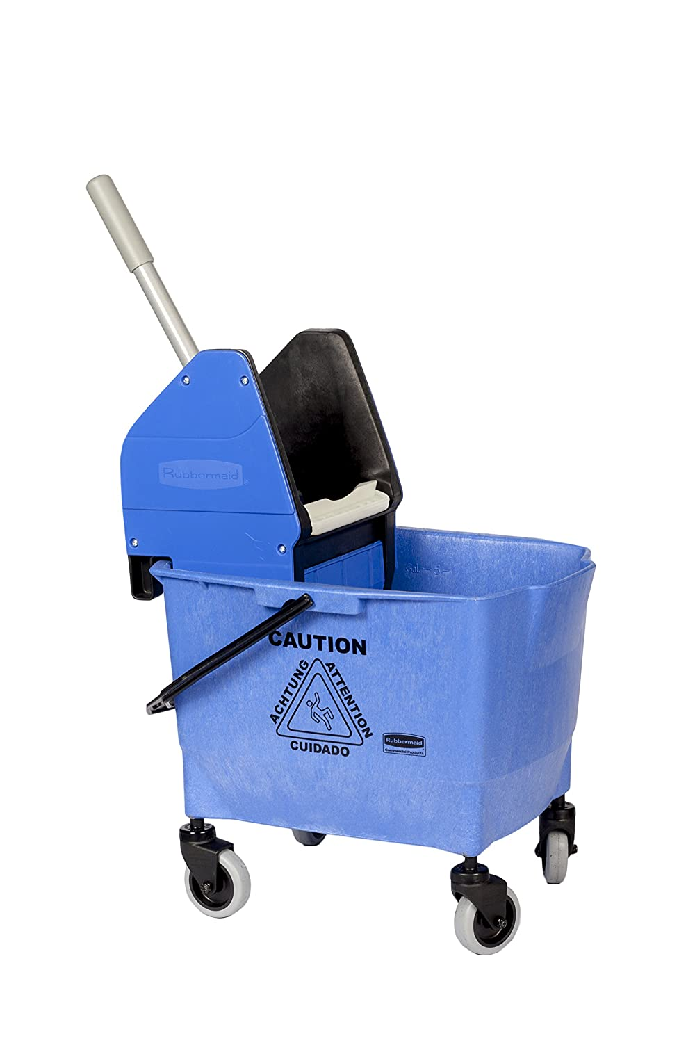 Rubbermaid Commercial 25L Combo Bravo Mop Bucket with Wringer - Blue Newell Rubbermaid R014155 win8202