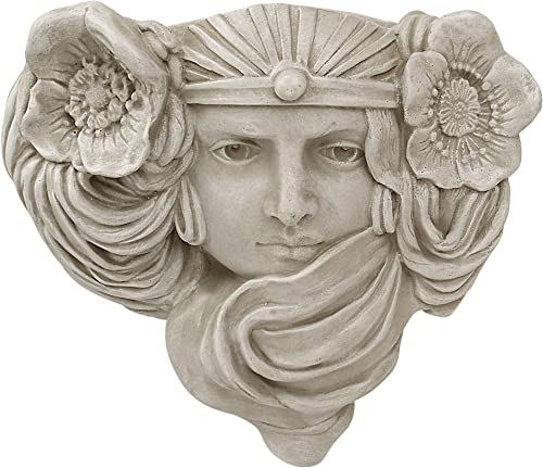 Design Toscano EU29432 Art Nouveau Mystic Maiden Wall Pocket Planter Sculpture