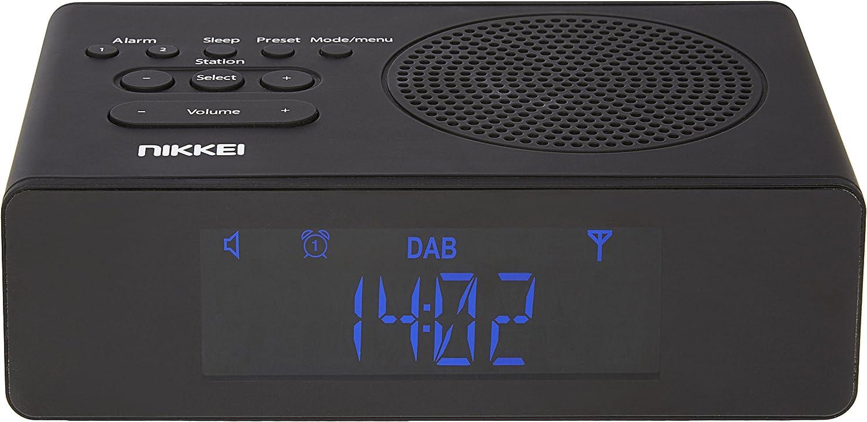 Nikkei Nrdb15bk Digital Radiowecker Uhrenradio Weckradio Dab Fm Lcd Display Automatische Sendereinstellung Und Doppelte Weckzeit Schwarz Heimkino Tv Video
