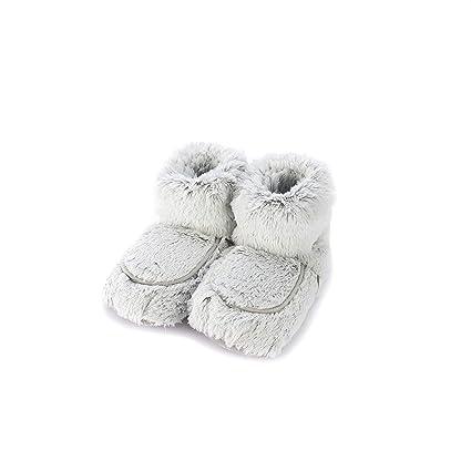 Warmies - Zapatillas para zapatillas (color gris)
