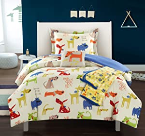 Chic Home Pet Land 4 Piece Comforter Set Man's Best Friend Puppy Dog Theme Youth Design Bedding - Throw Blanket Decorative Pillow Sham Included, Twin,