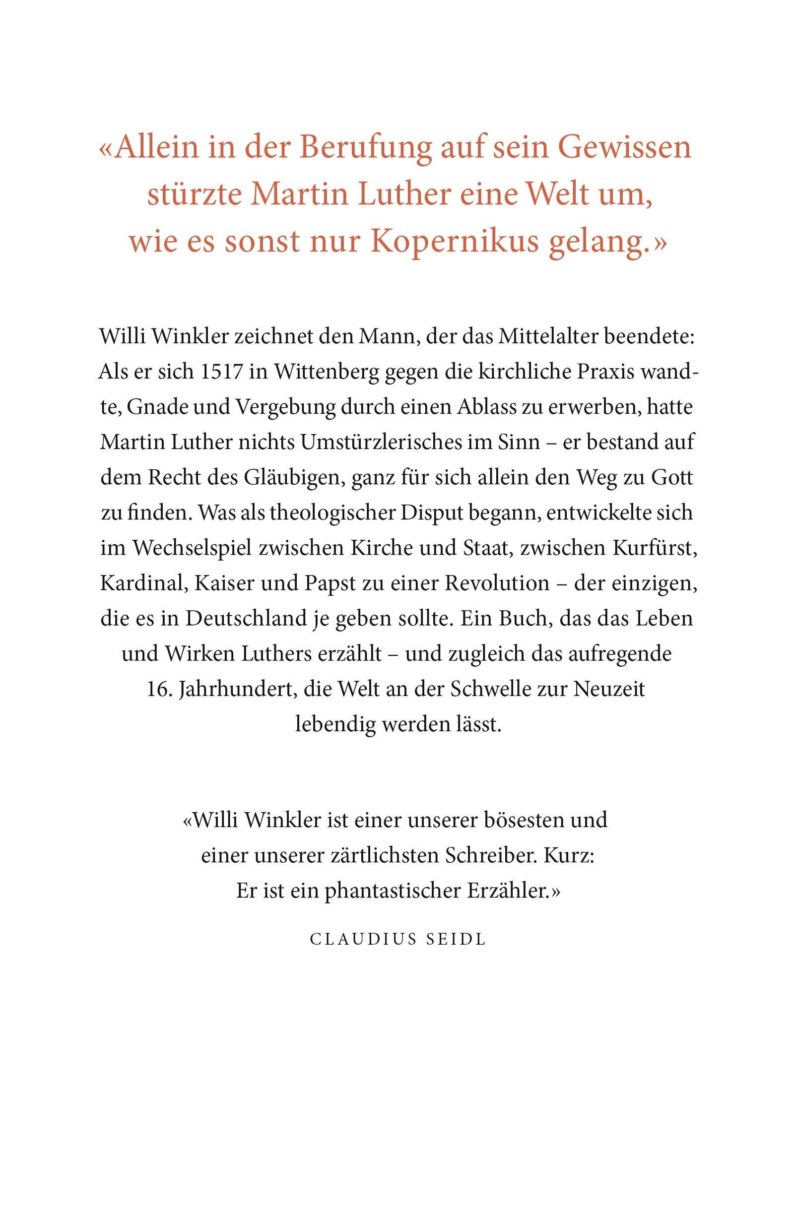 Luther Ein Deutscher Rebell Amazon Willi Winkler Bücher