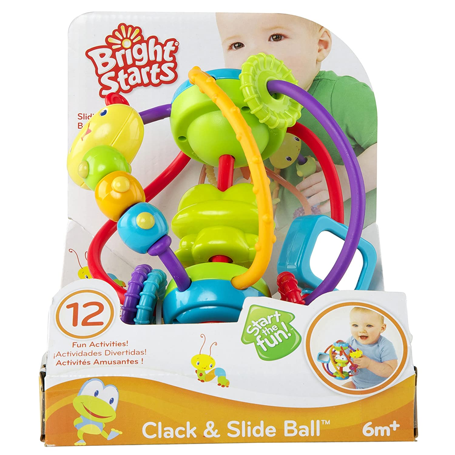 Amazon Bright Starts Clack and Slide Activity Ball Baby