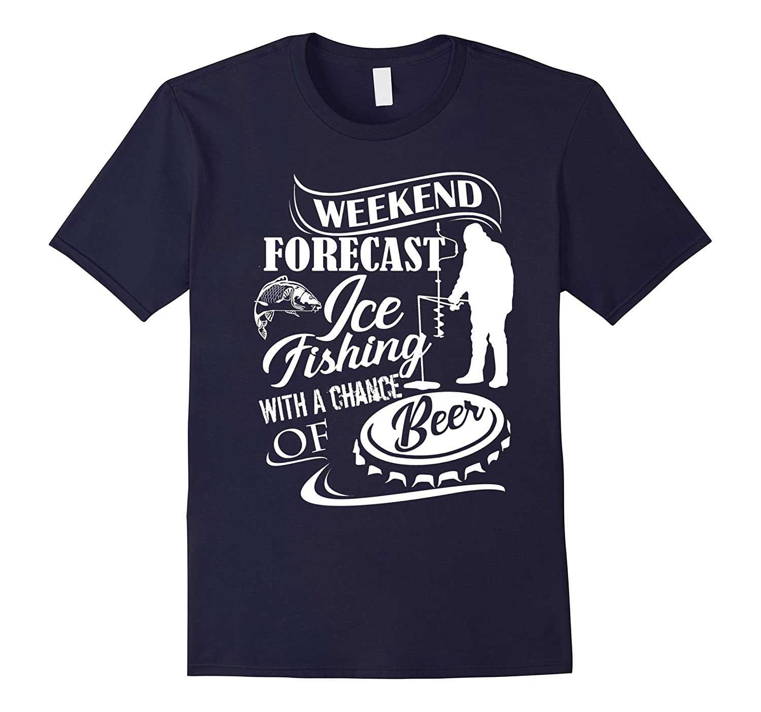 Ice fishing t shirts weekend forecast ice fishing goatstee for Ice fishing apparel
