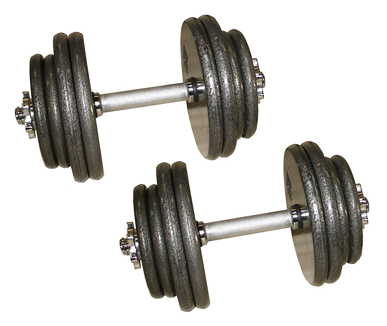 Aderグレー調整可能dumbbells- 40、45、50、55、60、80 lb B019FW4B5S 50 Lbs