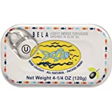 Bela-Olhao Lightly Smoked Sardines in Olive Oil, 4.25 Ounce -- 12 per case
