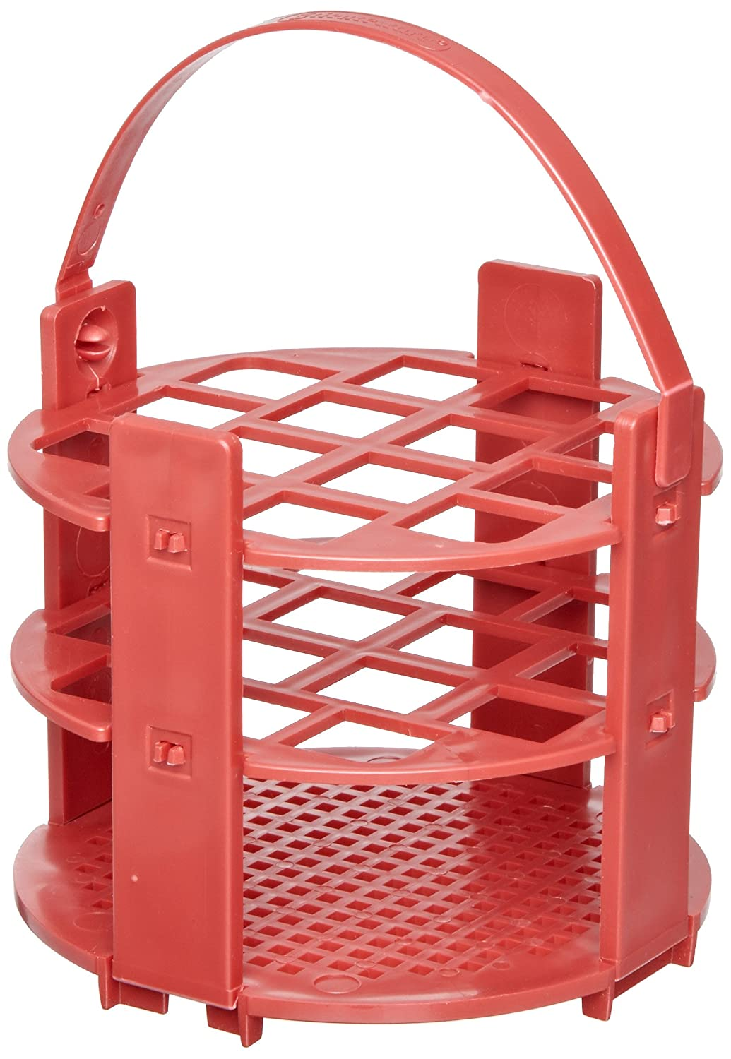 B002VA5UNE Bel-Art F18743-1016 No-Wire Round Test Tube Rack; 13-16mm, 14 Places, Red, Polypropylene 81LNpO-E0IL