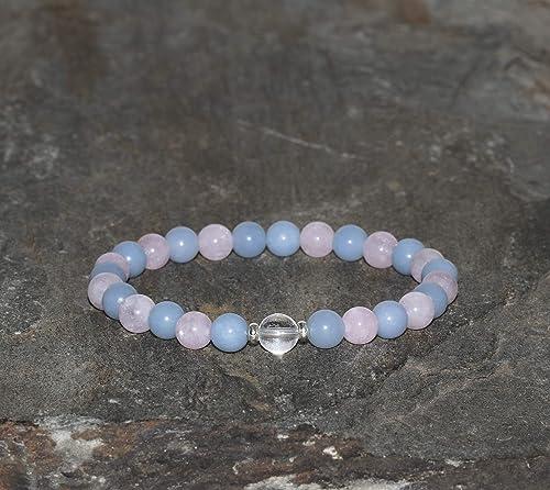 6mm Morganite Crystal Bracelet