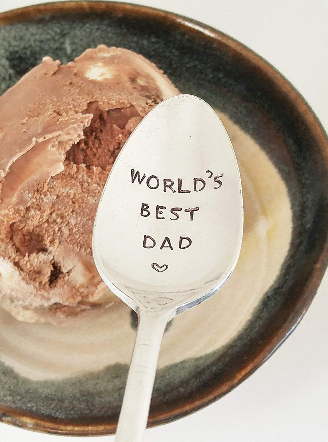 World's Best Dad - Hand Stamped Spoon - Fathers Day Gift For Dad - Christmas Gift