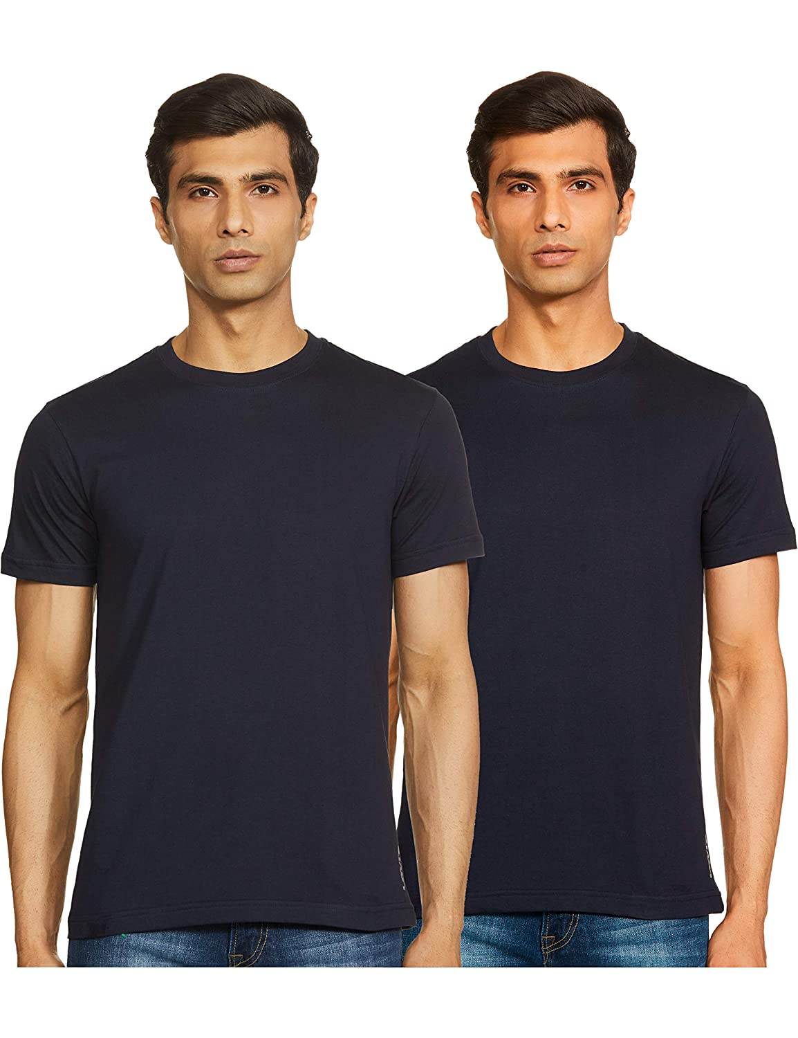 Levi's Men's Ultra-Soft Cotton 300 LS Classic Round Neck T-Shirts (Pack of 2)