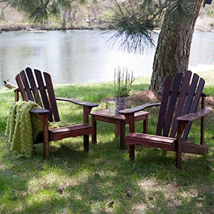High Quality Richmond Adirondack Chair Set With FREE Side Table