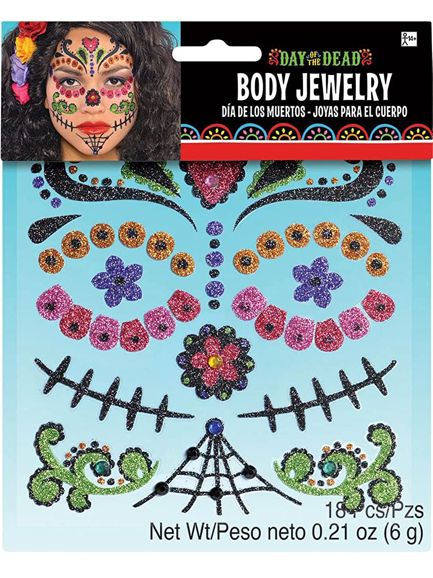 Spursgrl Day of the Dead Body Jewelry Costume Makeup Amscan