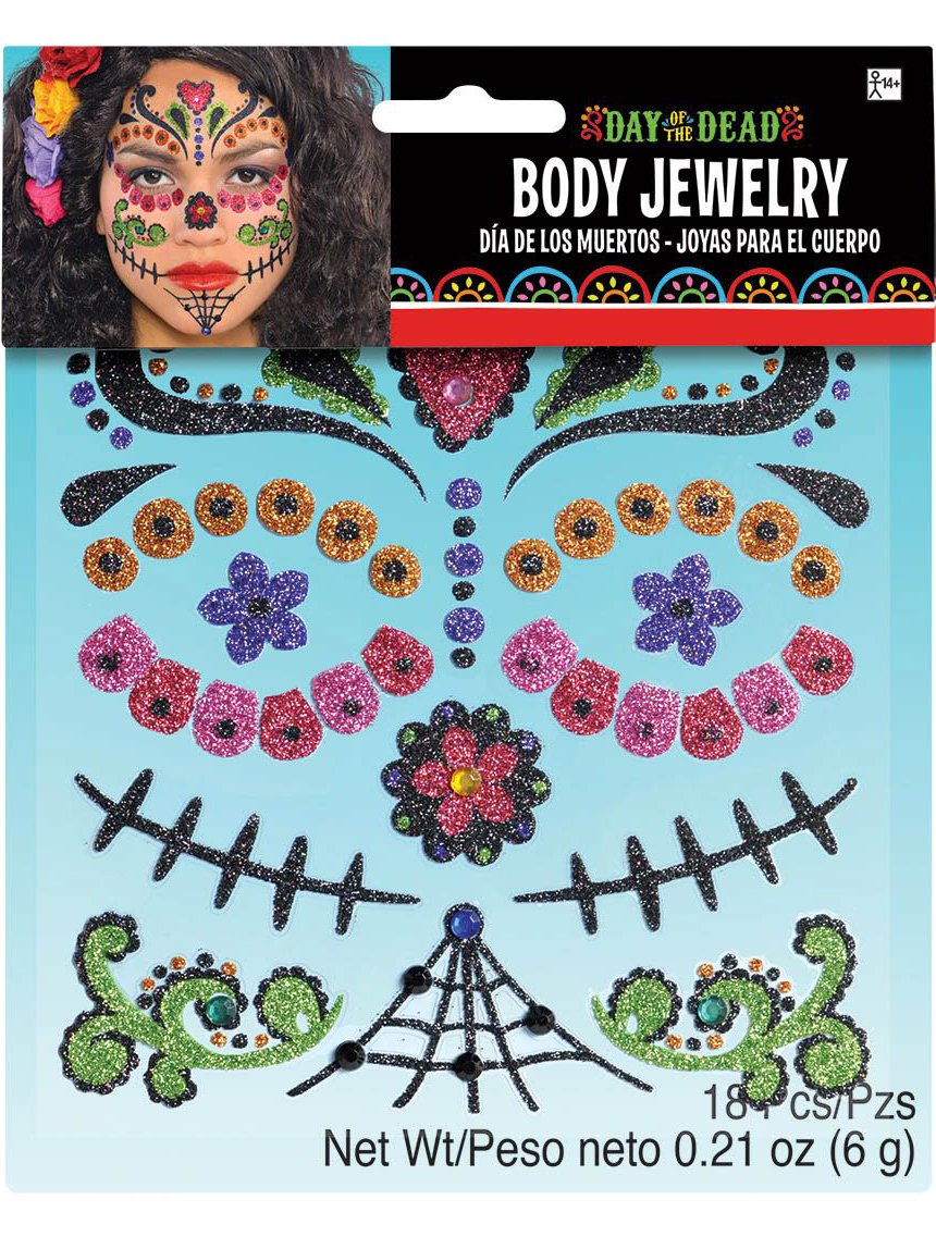 Day of the Dead Body Jewelry Costume Makeup