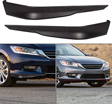 Fits 18-19 Ford Mustang GT Style Add on Front Bumper Splitter Lip Black PP