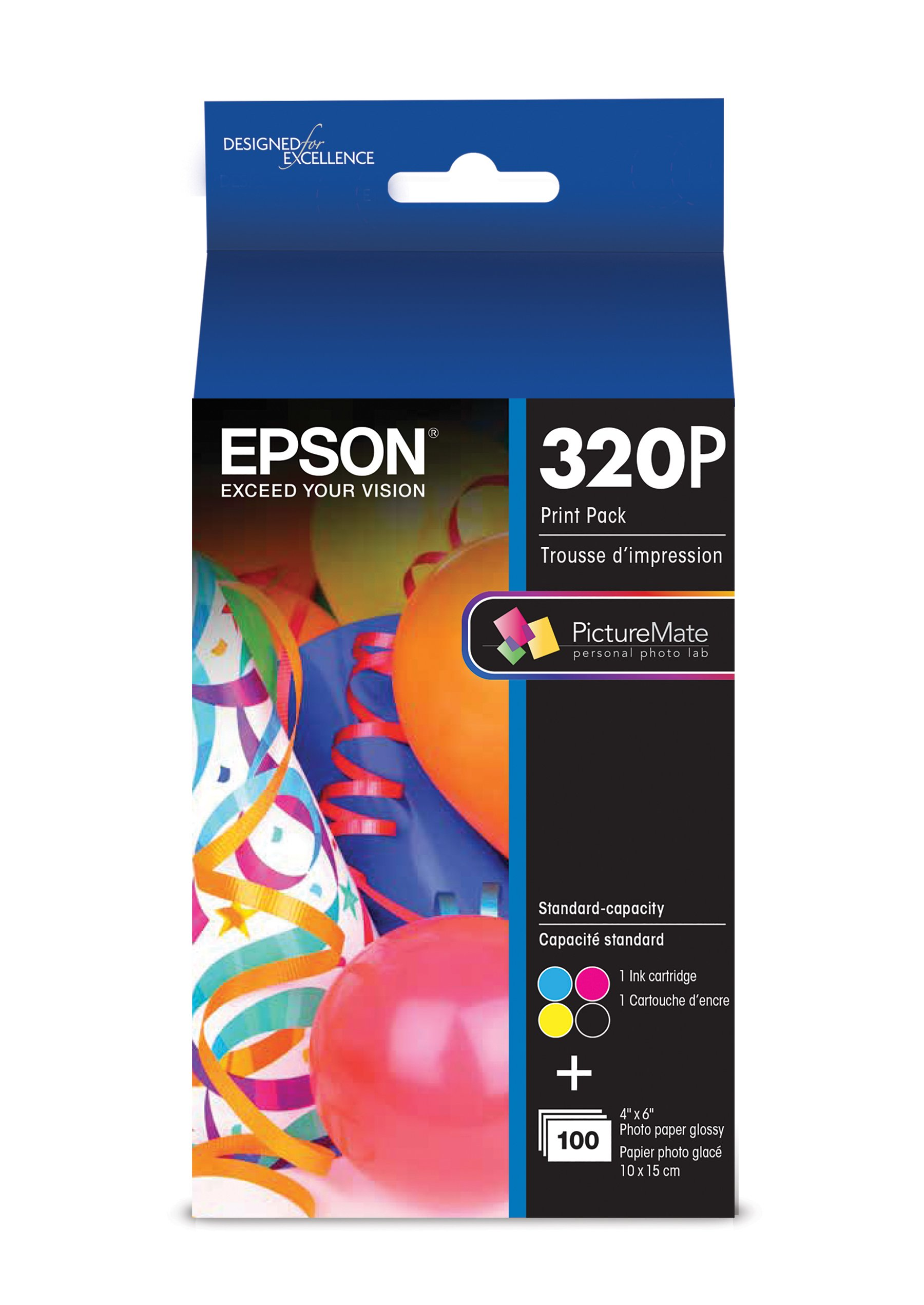Epson T320P PictureMate ColorCartridge & Print Pack Ink
