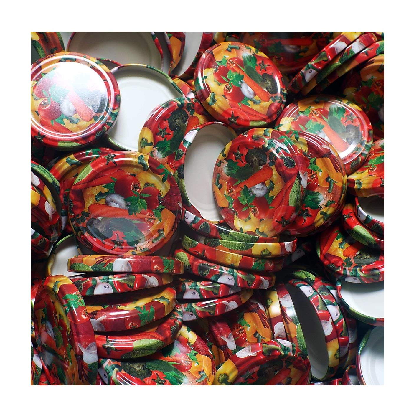 Biene SAMMELT NEKTAR x 25 ST/ÜCK SCHRAUBDECKEL F/ÜR GL/ÄSER /• Twist Off Deckel VERSCHL/ÜSSE /• ERSATZDECKEL /• 25,50,100,150,200,250,500 ST/ÜCK /• GRO/ßE Auswahl Verschiedene GR/Ö/ßEN UN Crown TO66