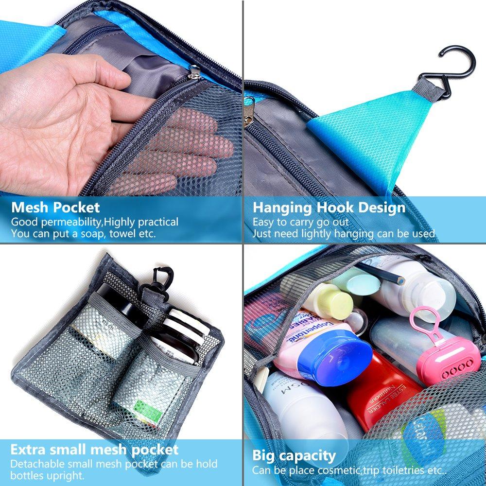 Hanging Toiletry Bag,Raniaco Makeup Bag Organizer,Large Capacity Storage Travel Kits Portable Cosmetic Washing Design Carry Case