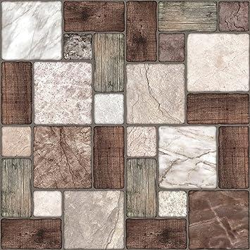 Tile Style Decals 24 Stück Fliesenaufkleber Für Küche Und Bad 24xNTP  0 6u0026quot;