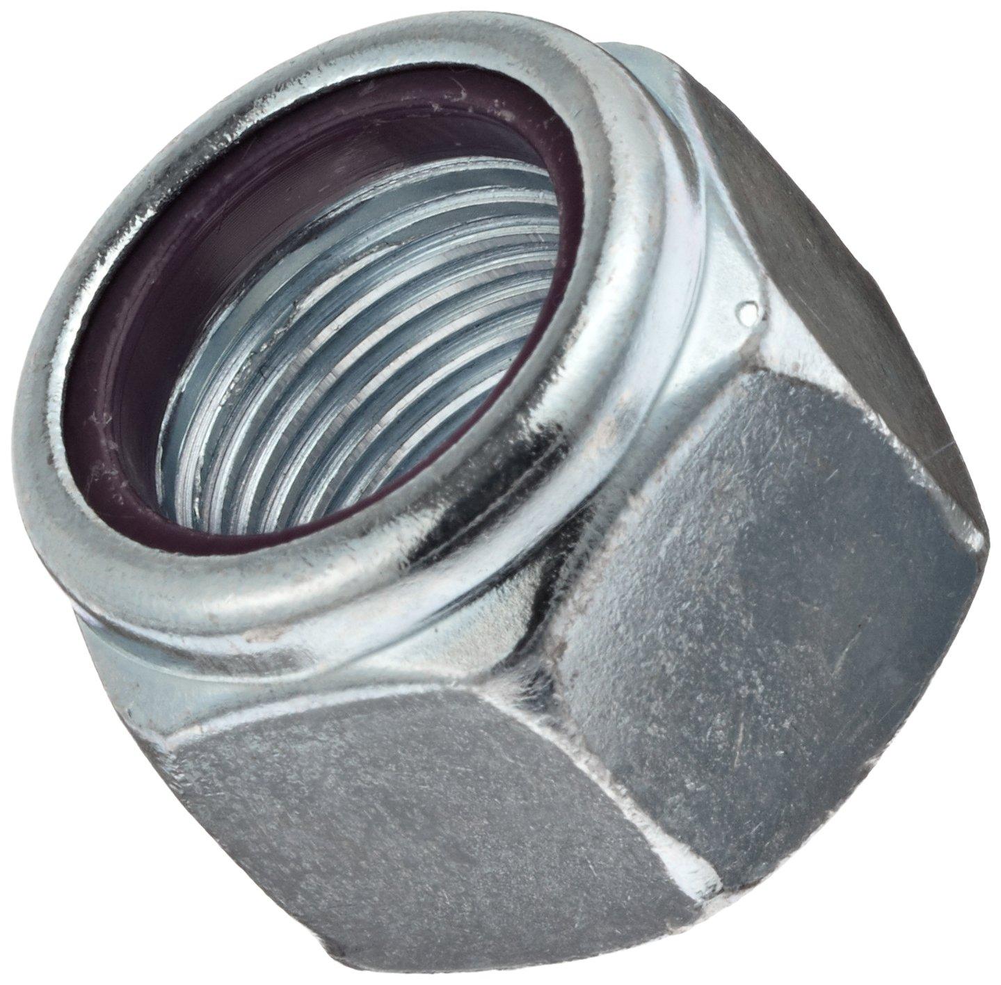 0.552 Width Across Flats 5//16-24 Threads Right Hand Threads Self-Locking Nylon Insert Steel Hex Nut Zinc Plated Finish Grade 2 Pack of 100