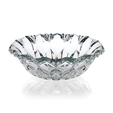 Celebrations by Mikasa Blossom Crystal Centerpiece Bowl, 13.5-Inch