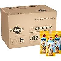 Pedigree DentaStix 1x Täglich Hundeleckerli für große Hunde, Kausnack mit Huhn- und Rindgeschmack gegen Zahnsteinbildung für gesunde Zähne, 112 Stück
