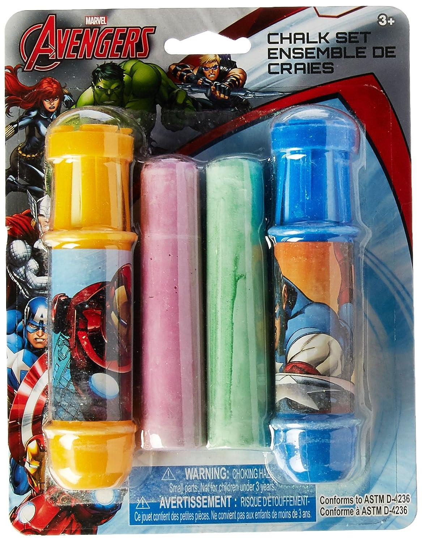 2-Pack Set Marvel Avengers 4pc Jumbo Sidewalk Chalk with 2 Holders