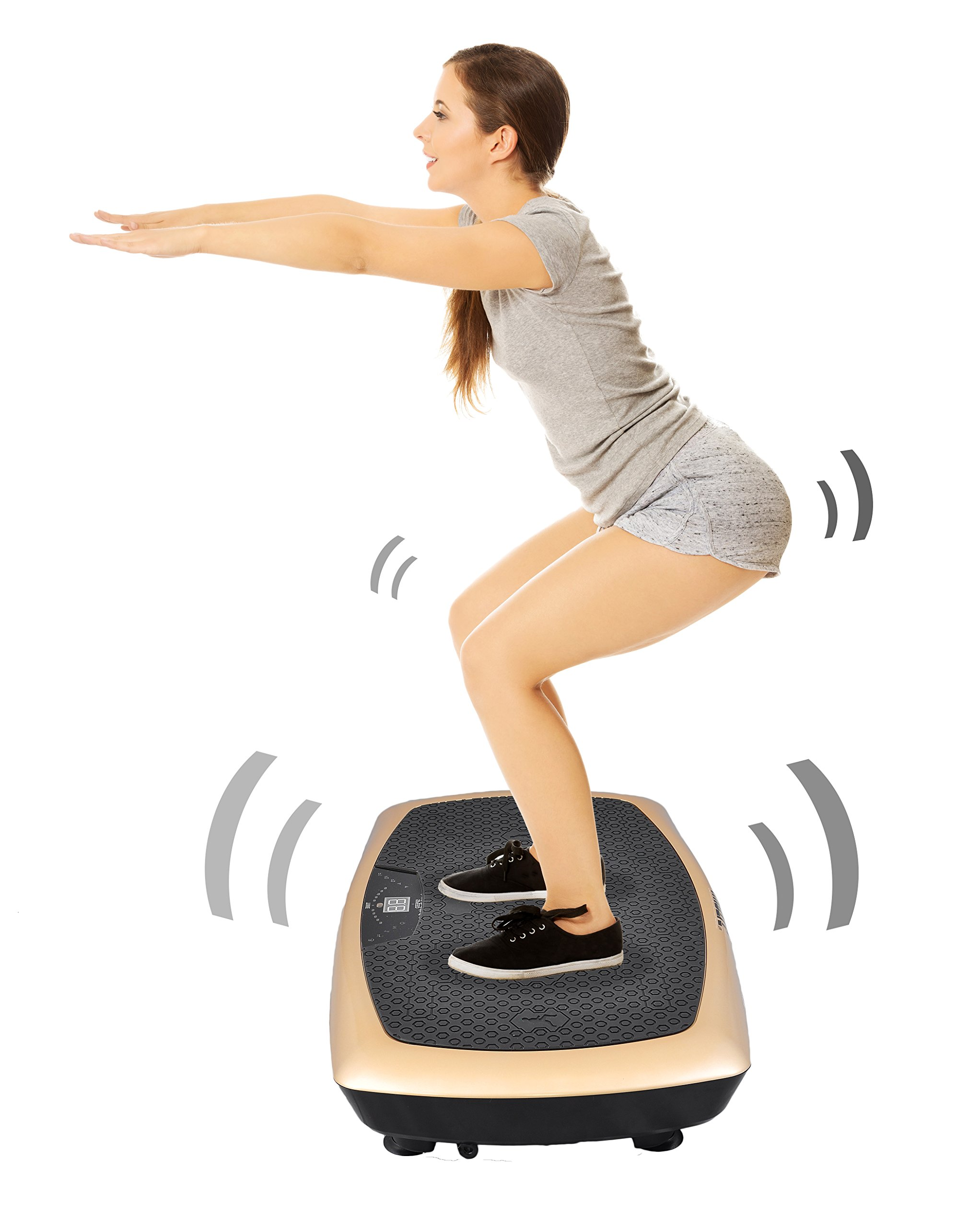 Updated Hurtle Fitness Machine Vibration Platform, Fat Burning, Full Body Training, Workout Trainer, 400 Watt, Speed Adjuster, Lab Tested - Toning For Abs, Thighs & Buttocks (HURVBTR60) by Hurtle (Image #6)