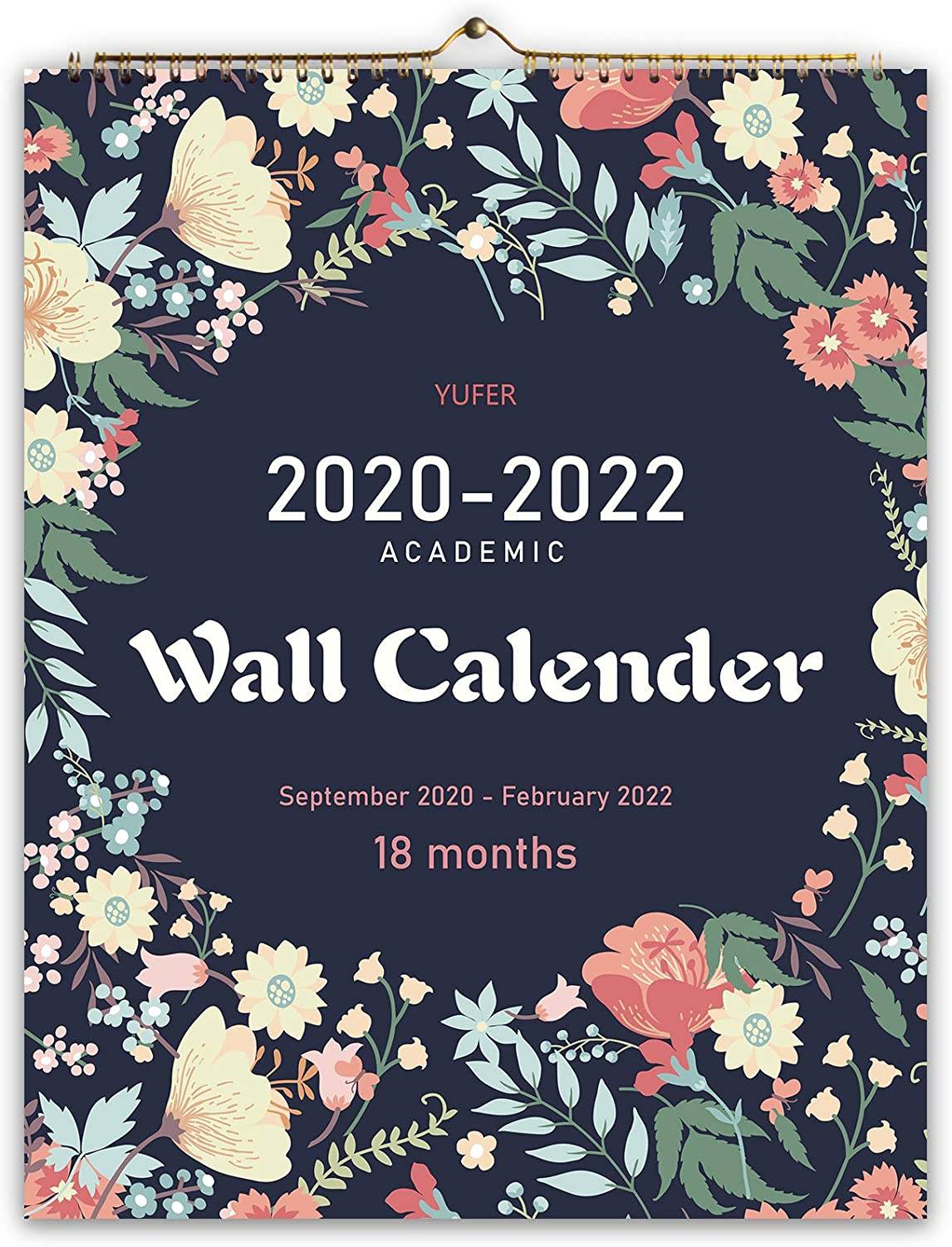 2020 Calendar-18 Monthly Wall Calendar with Thick Paper,Large Wall Calendar 11x14 Inches,Vibrant September 2020- February 2022