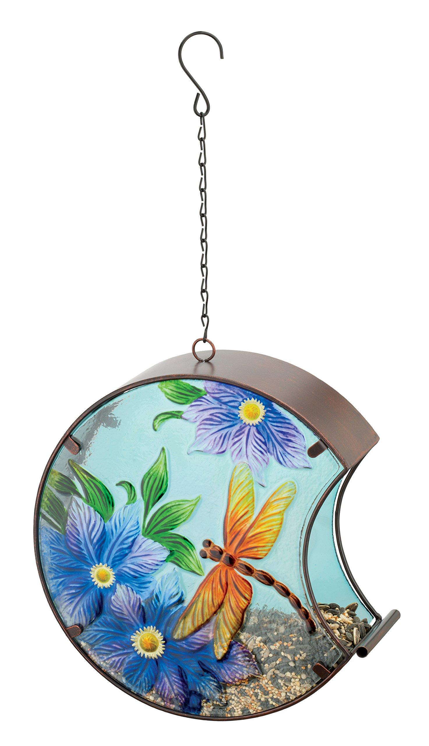 Regal Art & Gift 11687 Hand Painted Bird Feeder, Dragonfly