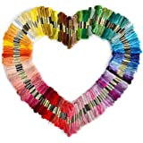 Rosenice Broderie fil dmc fils 150 échevettes 8 M multi-couleur Threads Floss(Random Color)