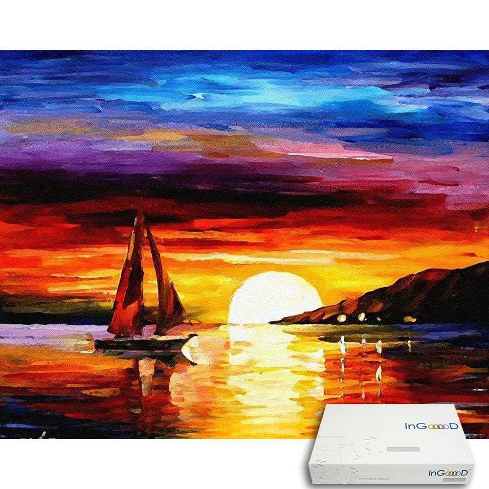 Ingooood Painting Series Sailboat Nightfall Beautiful Newbeetleorgexploded Diagrams Part Numbers Gooood Stuff Sunset Jigsaw Puzzles 500 Pieces For Adult Toys Games