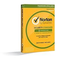 Norton Security Standard 2018 | 1 Dispositivo | 1 Anno | PC/Mac/iOS/Android | Download