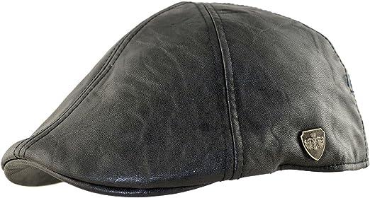 Angela /& William Leather Feel Ivy Newsboy Duckbill Cap Hat 57cm Brown