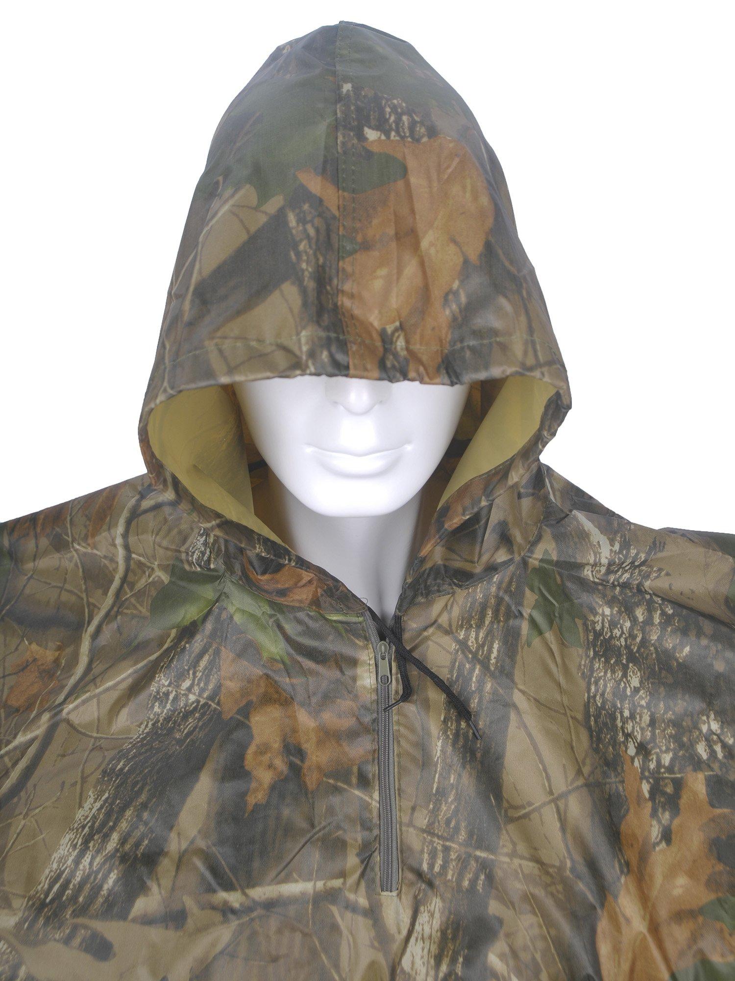 Rain Poncho, LOOGU Waterproof Camouflage Rain Coat Outdoor Camo Shelter Ground Sheet by Rain Poncho (Image #6)