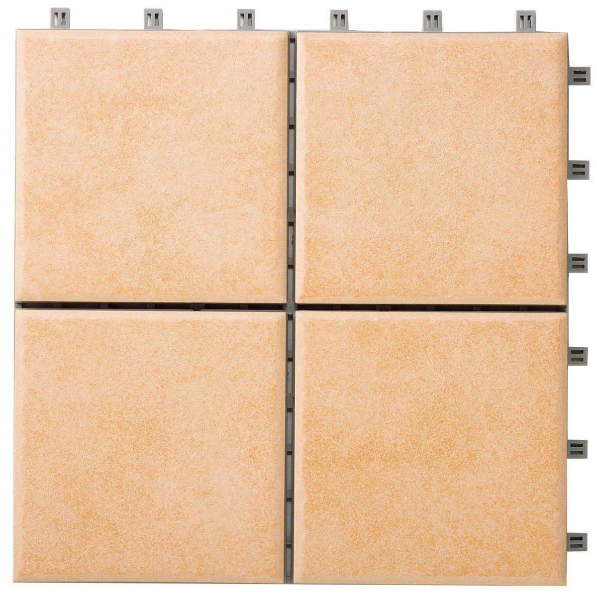 LIXIL(リクシル) INAX バルコニー用ユニットタイル セライージー 300角樹脂マット張り 10枚セット ピンクベージュ TFU-300M/NT-4 B01ERPT946 14785 ピンクベージュ|300角 ピンクベージュ