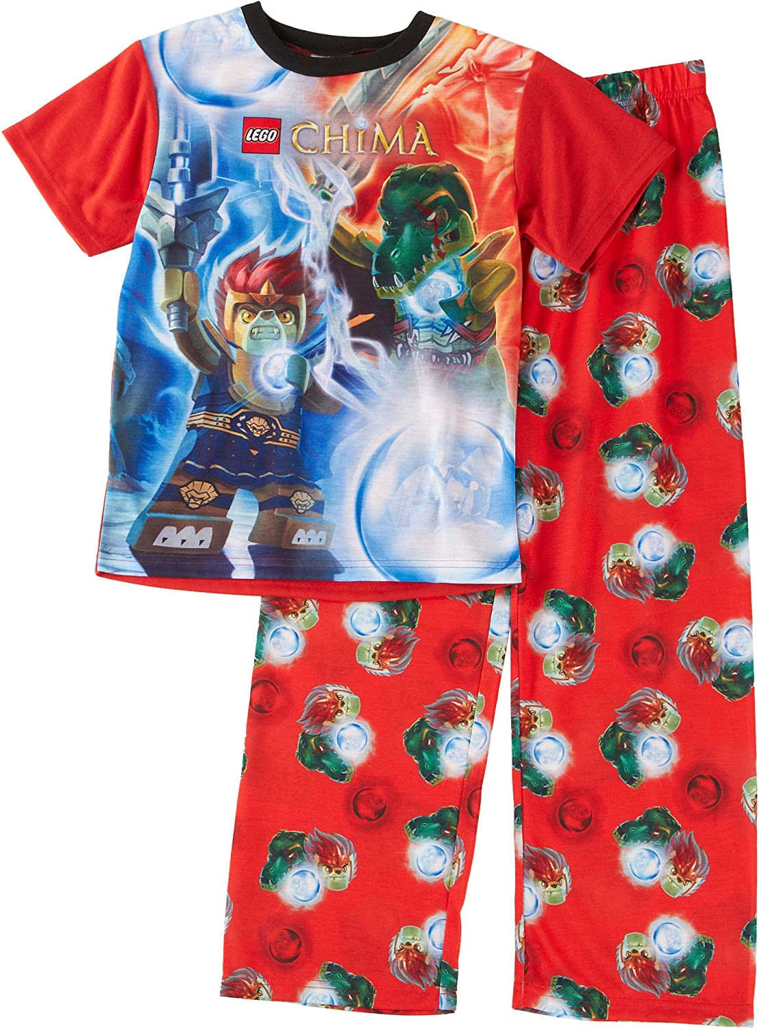 Lego Chima Laval Glow in the Dark Boys Cotton Pajamas Little Kid//Big Kid