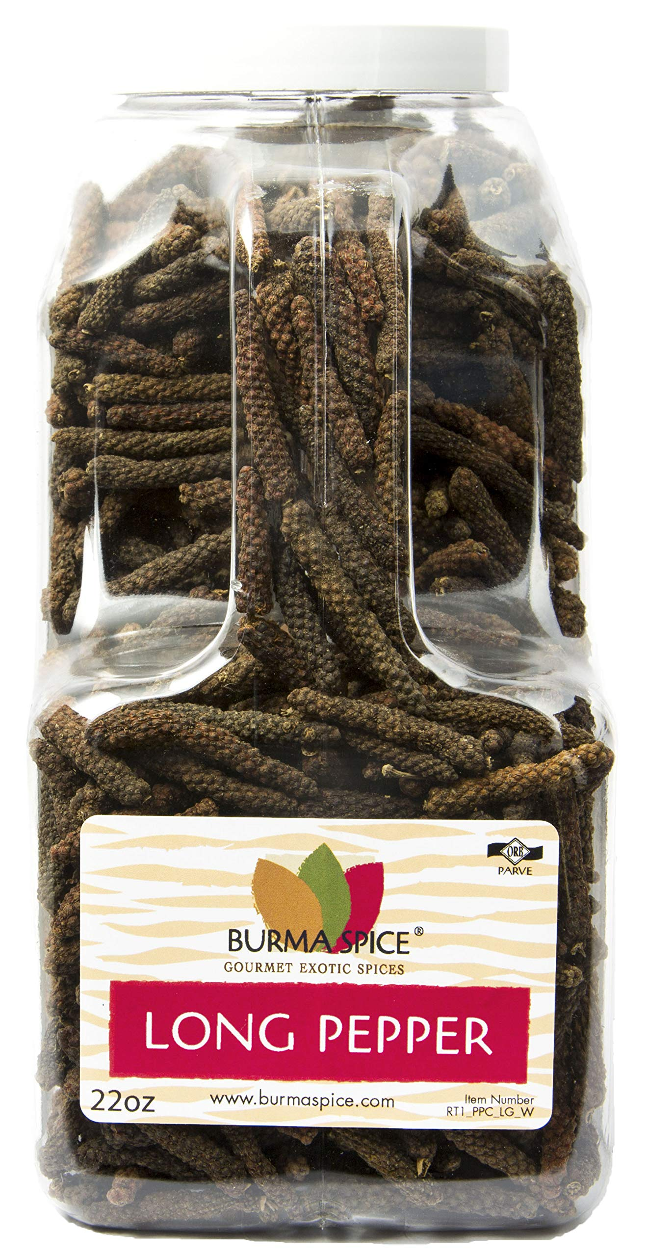 Long Pepper Whole | Piper longum | 100% Pure | Kosher Certified ( 22 oz.)