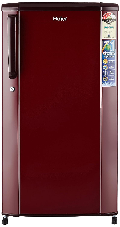 Haier 170L 3 Star Direct Cool Single Door Refrigerator (HRD-1703SR-R/HRD-1703SR-E, Burgundy Red)