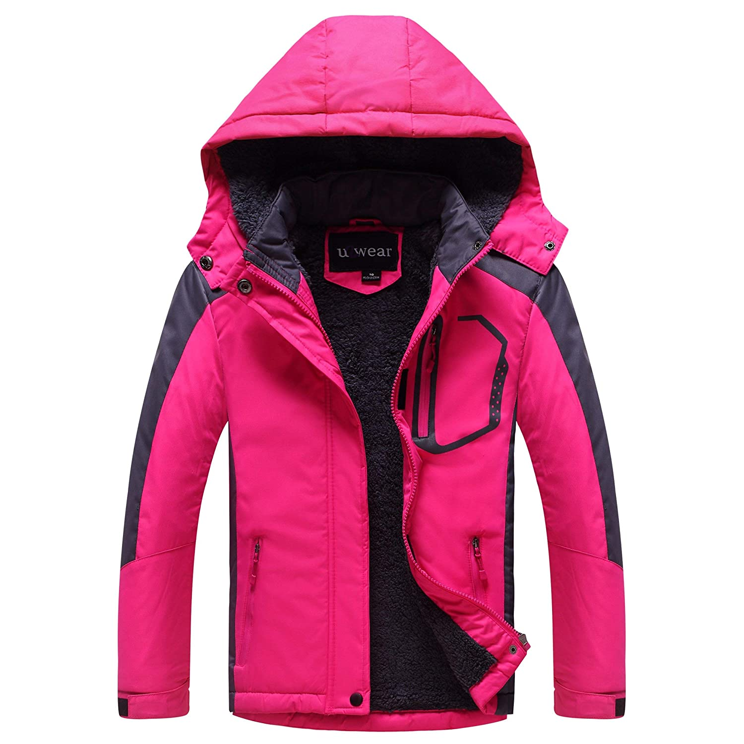 U2Wear Girls Softshell Jacket with Faux Fur Lining